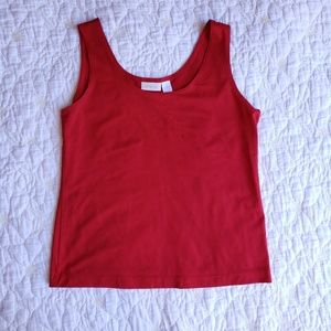 Chico's Stretchy Red Sleeveless Camisole Blouse